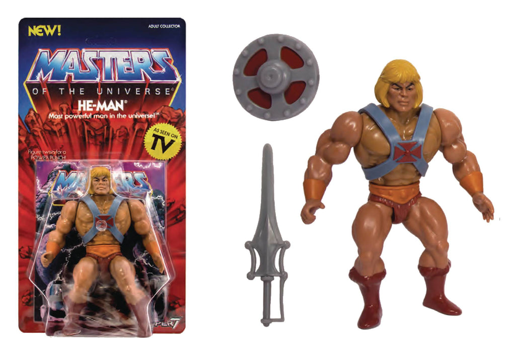 "Super 7 Masters of The Universe Vintage 5.5"" Action Figure - He-Man"