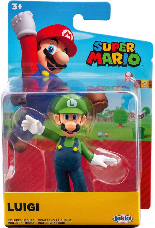 Jakks World of Nintendo: Super Mario 2-1/2 Minifigures (Wave 23) - Waving Luigi
