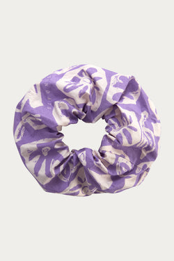 LILAC CUT FLOWERS SCRUNCHIE