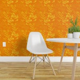 orange and yellow botanical wallpaper