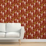 Red and white wisteria wallpaper