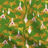 gold fuchsia fabric