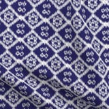 indigo and white ikat print