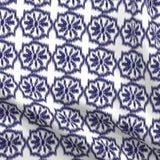 indigo and white ikat design fabric