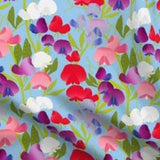 sweet pea print fabric