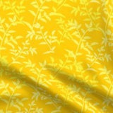 yellow botanical fabric