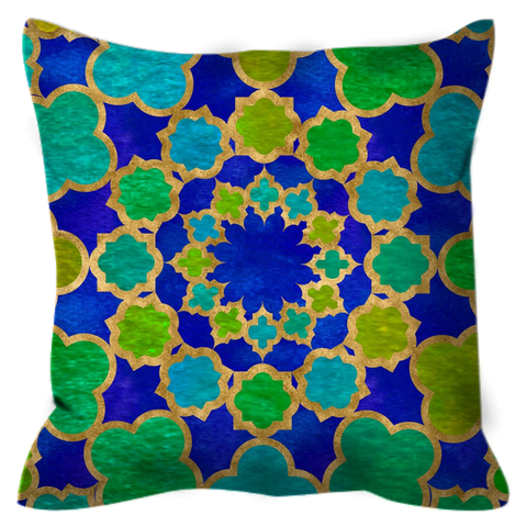 Inner Circle Outdoor Throw Pillow