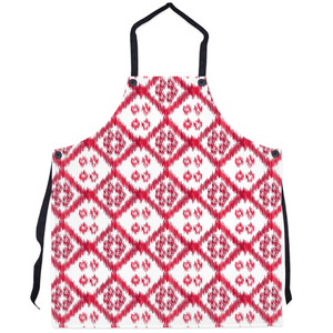 cute red and white kitchen apron