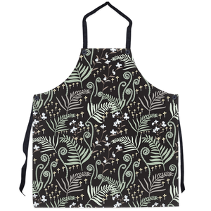 woodland ferns dark kitchen apron