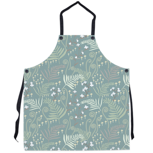 teal woodland kitchen apron