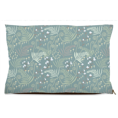 teal decorative dog bed