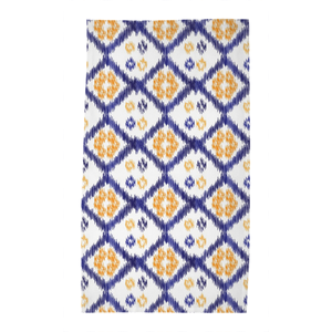 Blue & Orange Buton Tea Towel