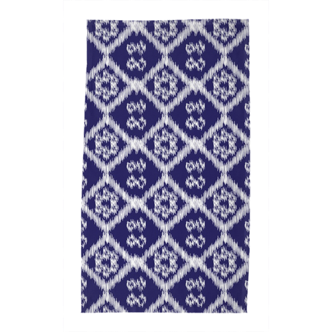 Blue Buton Tea Towel