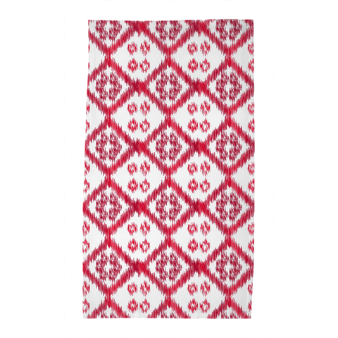 Red Buton Tea Towel