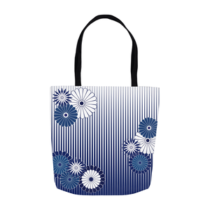 Blue & White Chrysanthemum Tote Bag