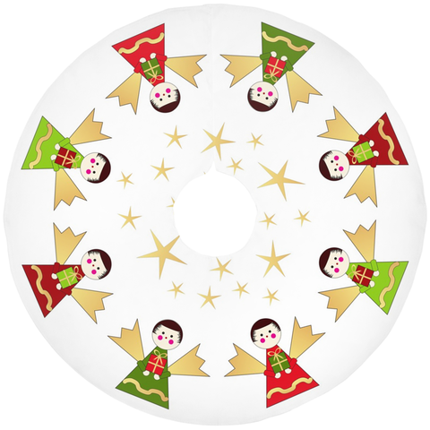Folk Angel Tree Skirt
