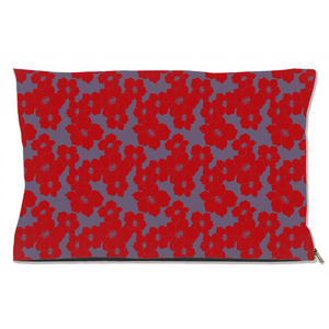 Fiery Floral Dog Bed