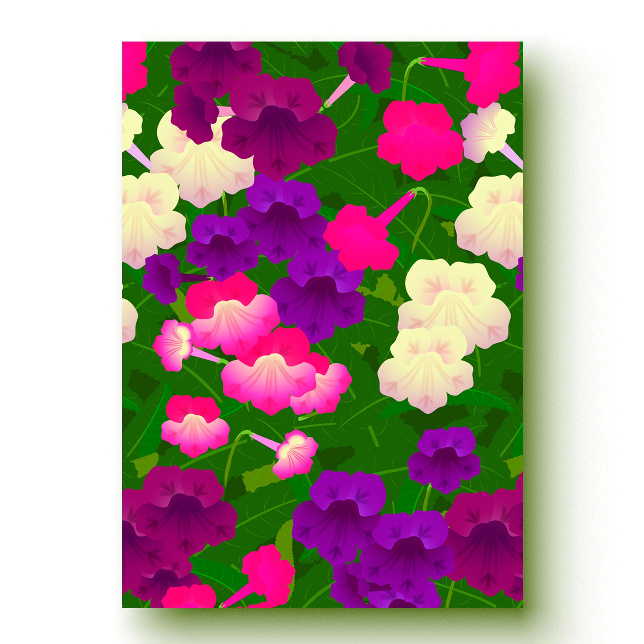 Printable Cape Primrose Greeting Card - Free Download