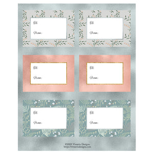 Printable Pastel Christmas Gift Tags  - Free Download