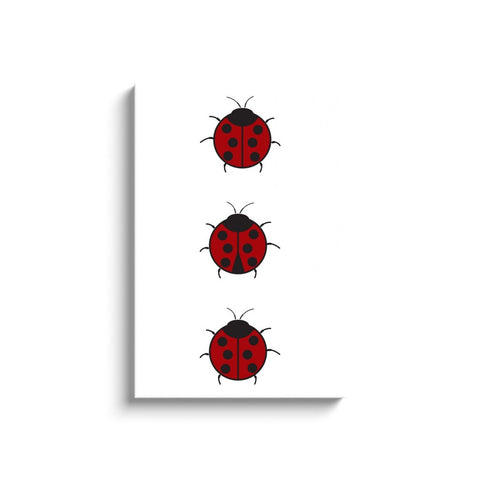 Ladybugs Canvas Wrap