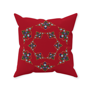 Paradise Red Throw Pillow