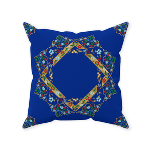 Paradise Blue Throw Pillow