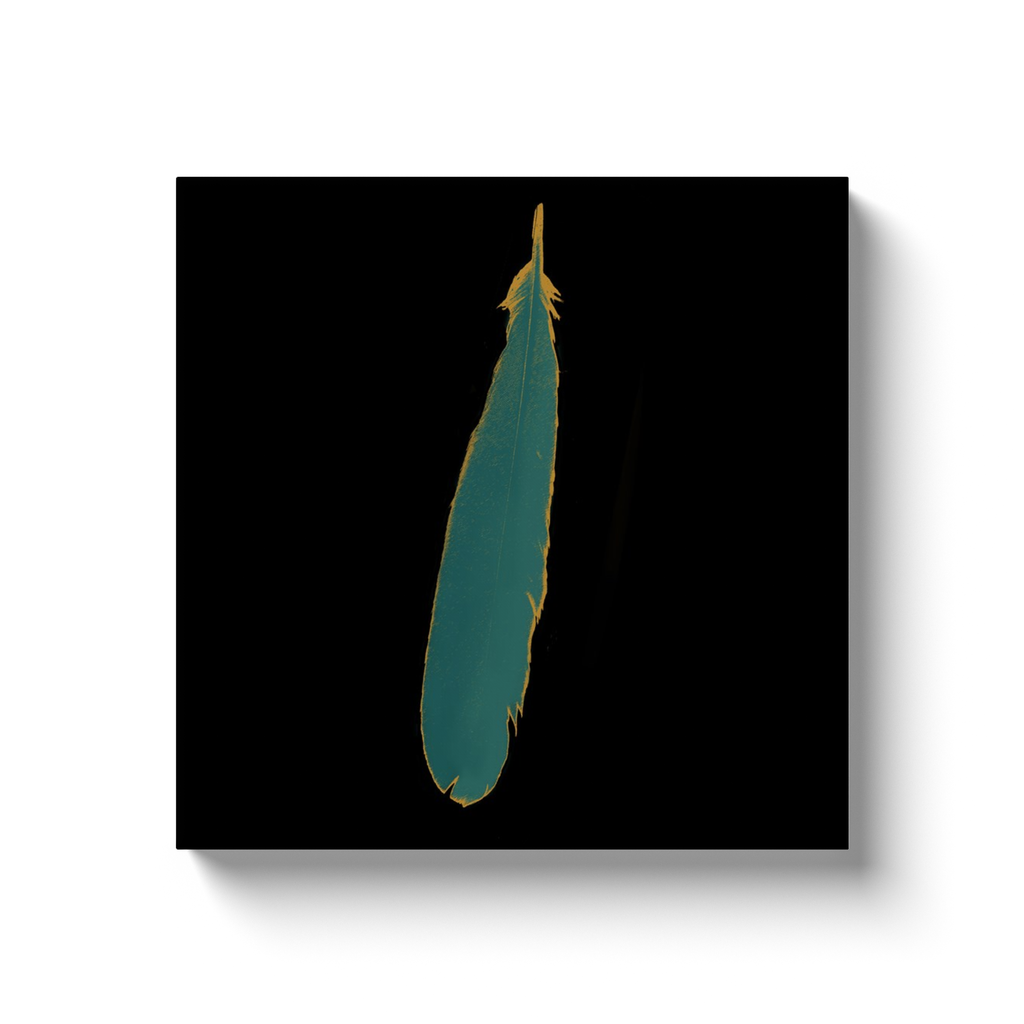 Cherubim Feather Wrapped Canvas Wall Art