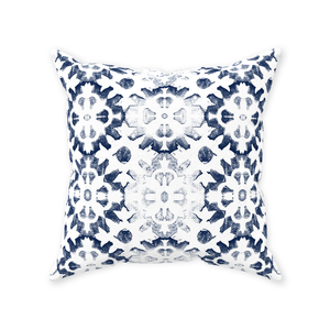 Vintage Wood Block Print Throw Pillow