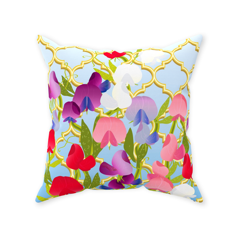 Sweet Pea Perfection Throw Pillow