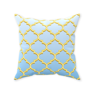 Blue Skies Forever Throw Pillow