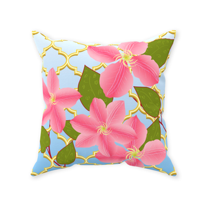 Pink Power Throw Pillow