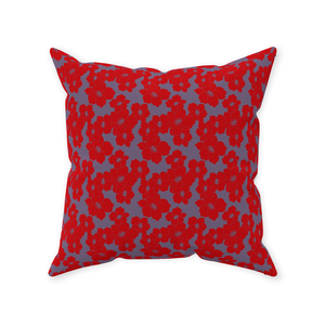 Fiery Floral Throw Pillow