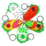 Strawberry-Shaped Silicone Handheld Pipe Keychain