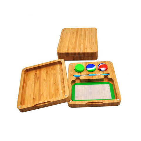Bamboo Silicone Storage Set