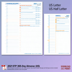 ETP Dated 365-Day Planner PDFs for 2021