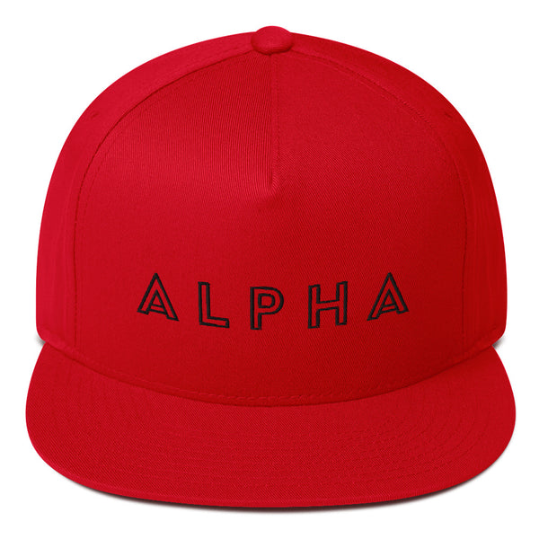 ALPHA - Flat Bill Caps