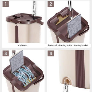 Magic Cleaner  Hard Floor Lazy Mop Bucket Wash-Drying System - MomProStore