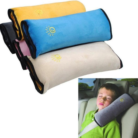 Car Seat Safety Pillow Strap Micro-suede Fabric