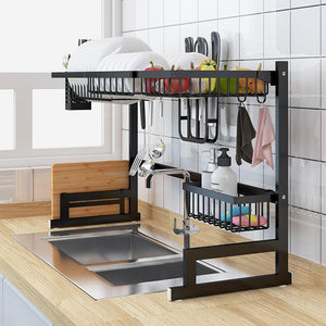 Stainless Steel Kitchen Shelf Organizer Dishes Drying Rack