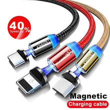 Load image into Gallery viewer, 3 in 1 Fast Charging Magnetic Micro USB Cable type C ios