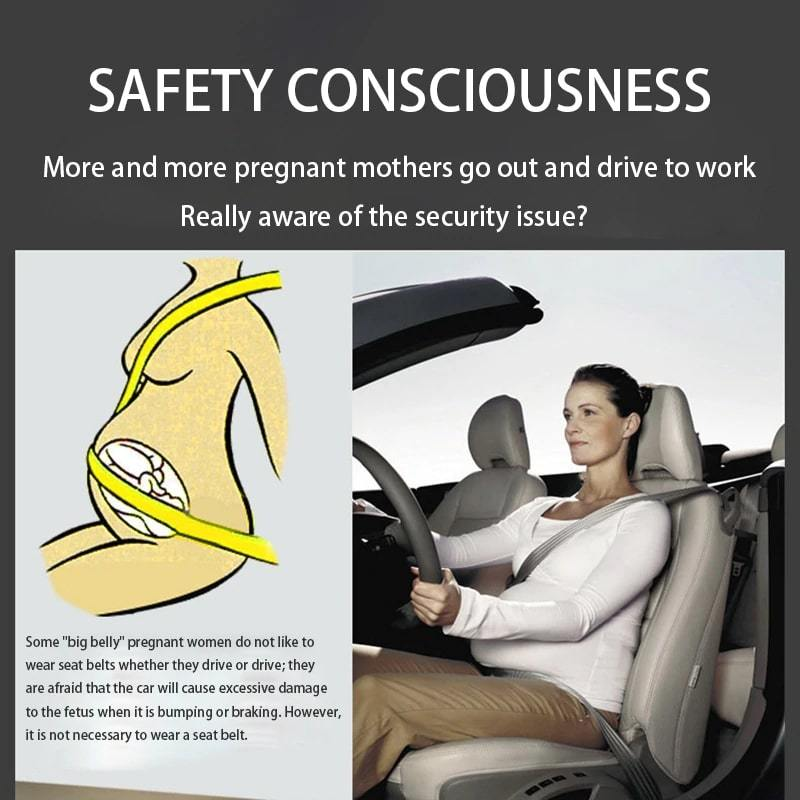 Pregnant Woman Driving Safe Belt