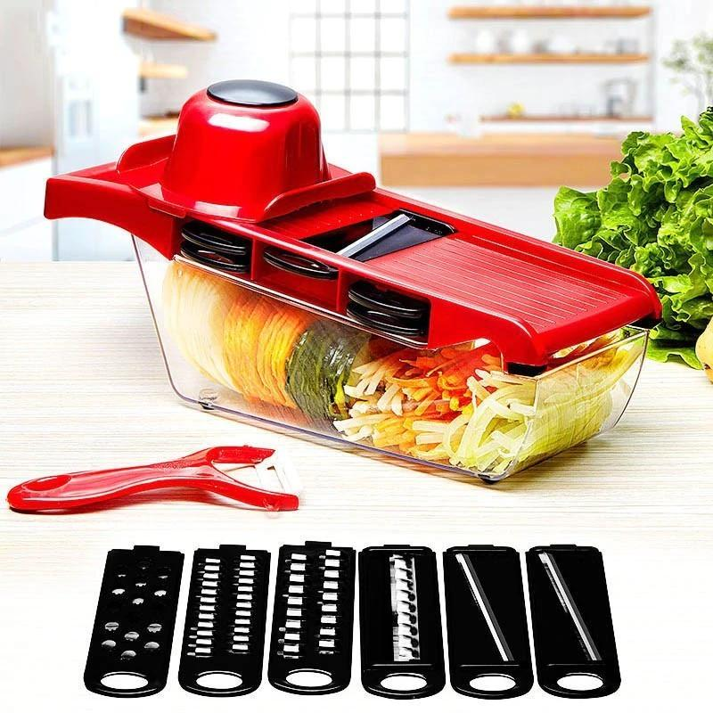 6x Blades Stainless Steel Vegetable Slicers