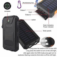 Load image into Gallery viewer, Waterproof Solar Power Bank - MomProStore