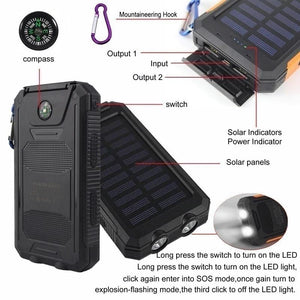 Waterproof Solar Power Bank - MomProStore