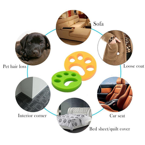 2x Reusable Pet Fur remover