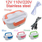 USB charging Electric Heating Stainless Steel Lunch Box - MomProStore