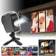 Load image into Gallery viewer, Christmas Halloween Laser Projector 12 Movies Disco Light