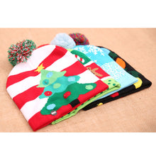 Load image into Gallery viewer, LED Light Up Christmas Hat Warm Bright Colorful Xmas Knitted Cap
