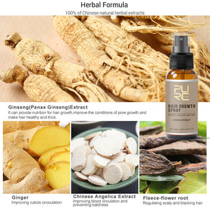 Natural Hair Growth Spray with Ginger Essence