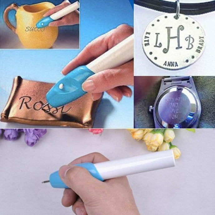 Electric Engraving Engraver Pen Carve DIY Tool For Jewelry Metal Glass US Stock